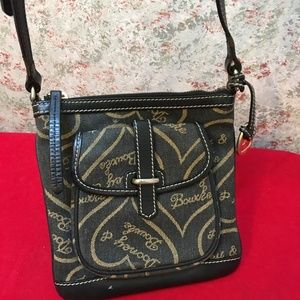 DOONEY & BOURKE Black Denim Hearts Signature XBody